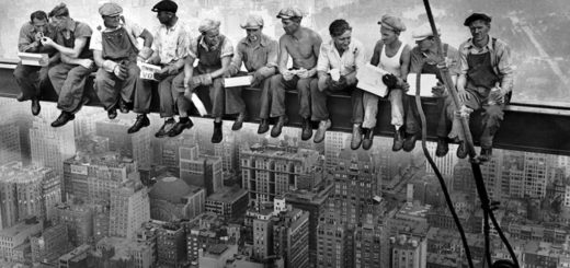 Construction Workers on Beam Watching NYC