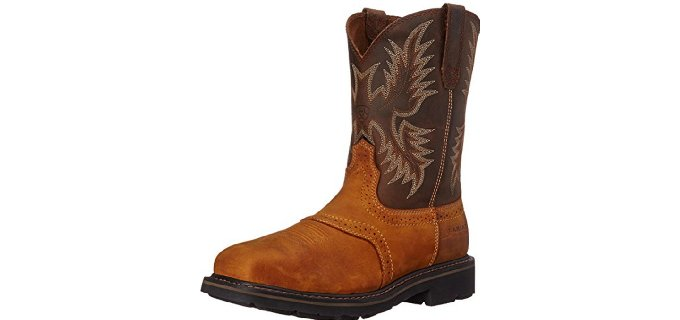 Ariat Men's Sierra - Wide Steel Toe Western Work Boot