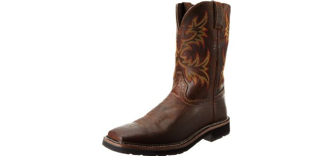 Justin Original Men's Stampeded - Square Toe Western Work Boots