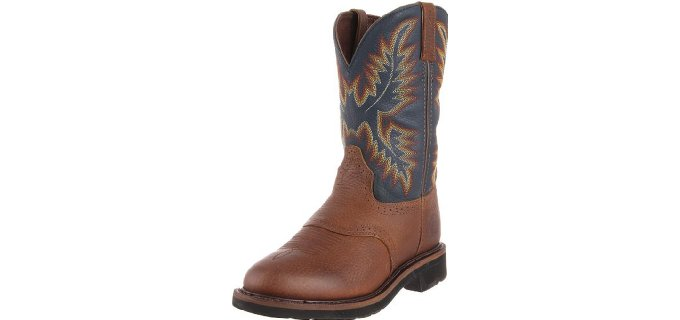 Justin Original Men's Stampede - Steel Toe Western Work Boot
