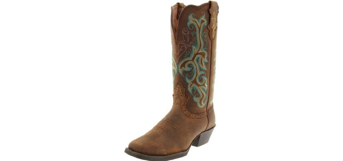 Justin Boots Women's Stampede - Decorative Western Work Boots
