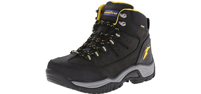 Goodyear Men's Bristol - Plantar Fasciitis Work Boot with Steel Toe