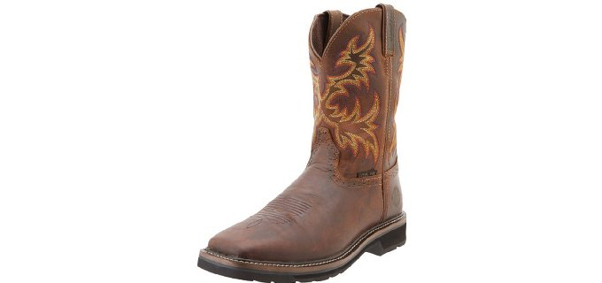 Justin Original Men's Stampede - Steel Square Toe Work Boot
