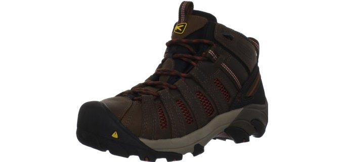 KEEN Men's Utility Flint Mid - Summer Work Boot