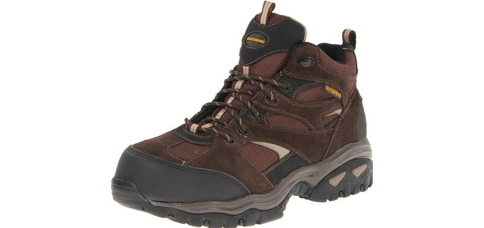 Skechers Men's 76987 Clan - Lightweight Waterproof Work Boots