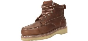 Workzone Men's Handcrafted - Lightweight Wedge Sole Comfortable Work Boot