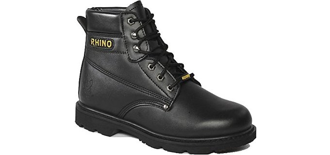 Rhino Men's 60S21 - Six Inch Steel Toe Safety Work Boots for Roofing