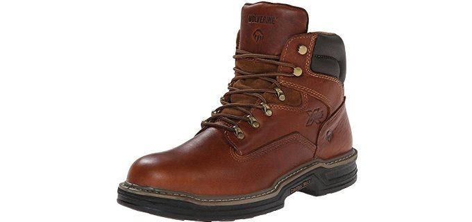 Wolverine Men's Raider - Gore Tex Work Boot for Wide Feet