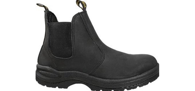 Work Zone Men's Pull On - 6 Inch Black Oiled Leather WorkBoot