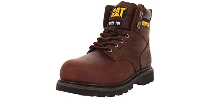 CAT Men's 2nd Shift Work Boots - Steel Toe Work Boots for Painters