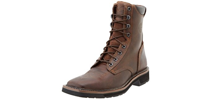 Justin Original Men's Work Boots - Premium Leather Square Toe Lacer Boots