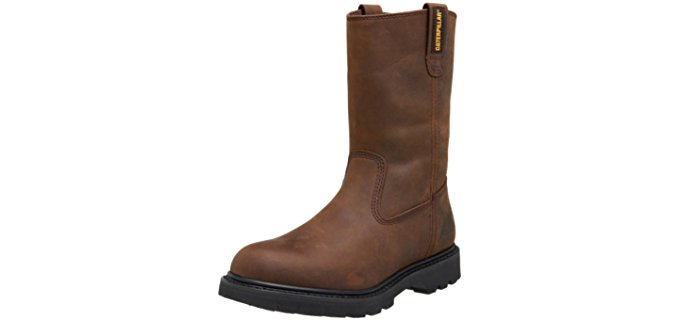 Caterpillar Men's Revolver - Soft Toe Comfortable Wellington Work Boot