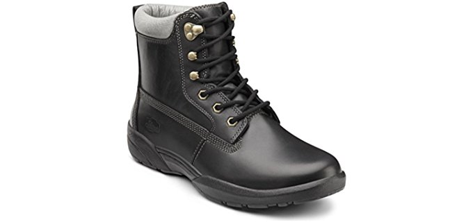 Dr. Comfort Men's Boss - Lightweight Protective Black Diabetic Work Boot