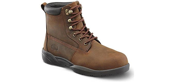 Dr. Comfort Men's Protector - Steel toe Extra Depth Diabetic Shoe