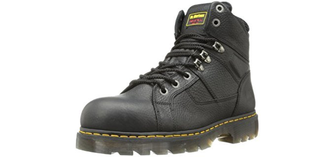 Dr Martens Men's Ironbridge - Wide Toe Work Boots for Ball of Foot Pain