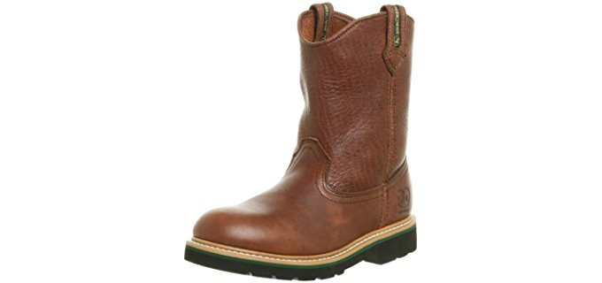 John Deere Kid's Western - Older Children's Work Boot