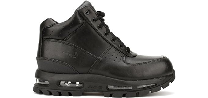 Nike work boots are quickly taking the work boot market by storm with their highly durable and protective safety work boots. Nike's range of work boots is rugged and refined, as well as built for harsh conditions and heavy wear.