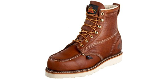 Thorogood Men's Moc Toe Wedge Heel - Non-Safety Oil and Slip Resistant Work Boots