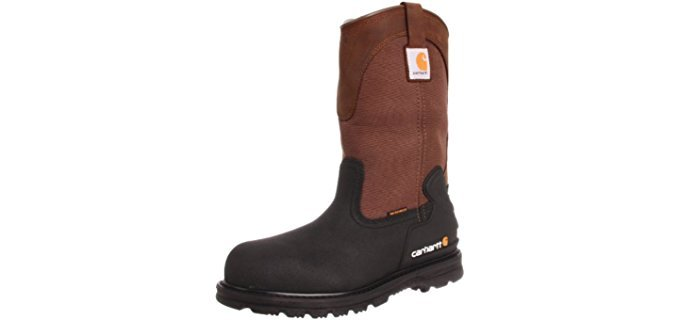 Carhartt Men's Mud Well - 11 Inch Slip On Insulated Work Boot