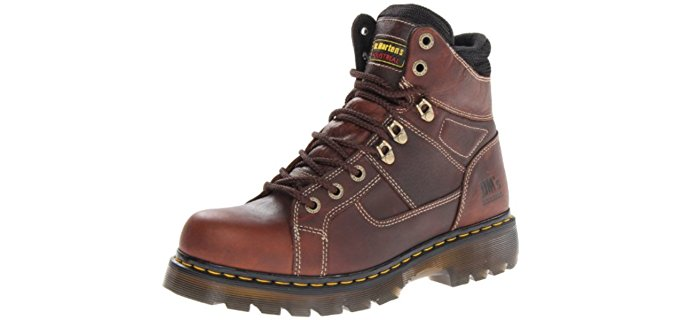 Dr. Martens Men's Iron Bridge - Non-Safety Work Boot for Plantar Fasciitis