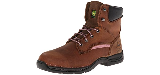 John Deere Women's JD 3612 - Comfortable Steel toe Work Boot
