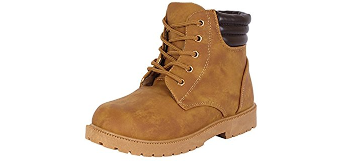 Rugged Bear Kid's Lace Up - Durable Work Boot for Boys