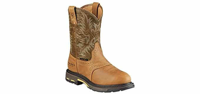 Ariat Men's Workhog H2O - Slip On Mens Work Boots for Cheffing