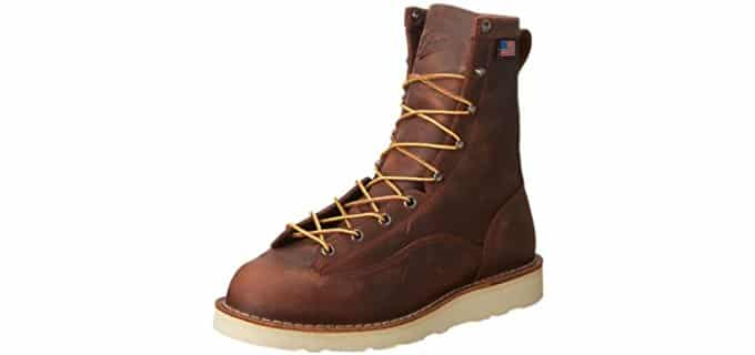 Danner Men's Bull Run - Comfortable Wedge Sole Work Boot for Hot Weather