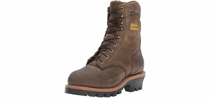 Chippewa Men's Logger - Steel Toe Work Boot for High Arches