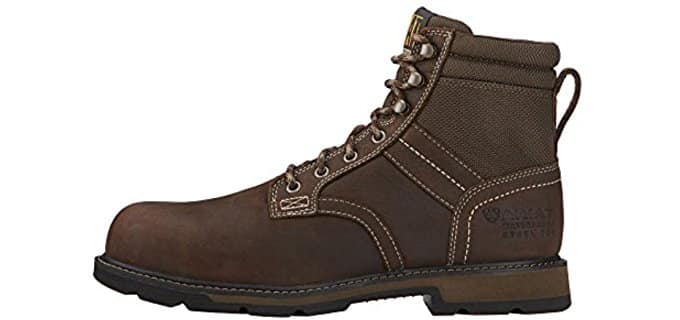 "Ariat Men's Groundbreaker 6"" H2O - Breathable Steel Toe Work Boots"