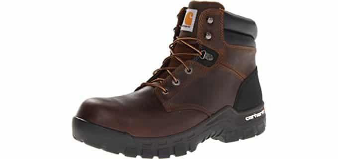 Carhartt Men's Composite Work Boots - Rugged Flex Boots for High Arches