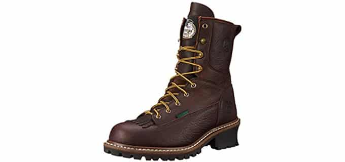Georgia Men's 8 Inch Logger - Comfortable Logger Boot