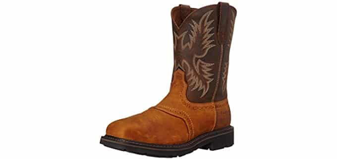 Ariat Men's Sierra - Wide Square Toe Pull On Work Boot