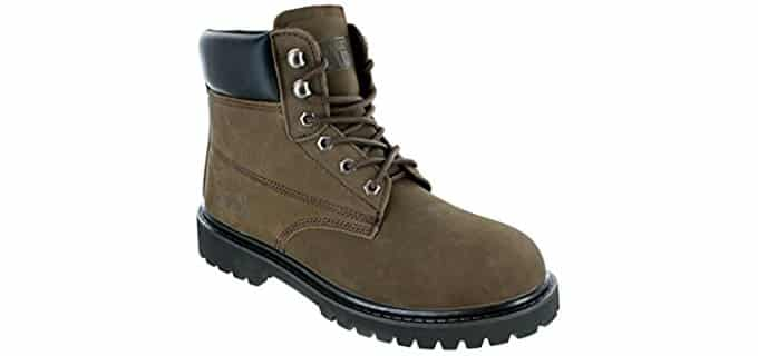 Rugged Blue Men's Original - Steel Toe Work Boots