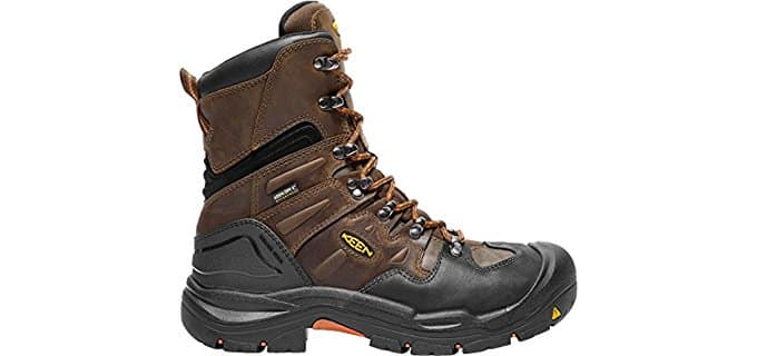 KEEN Men's Coburg - 8-inch Waterproof Industrial and Construction Shoe