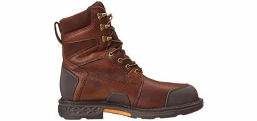 Square Toe Lace Up Work Boots