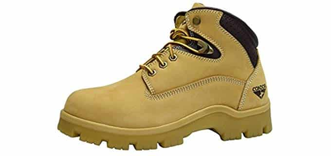 Condor Men's Idaho Work Boots - Steel Toe Boots for Standing All Day