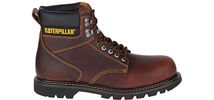 Caterpillar Men's 2nd Shift Work Boots - All Day Round Toe Work Boots