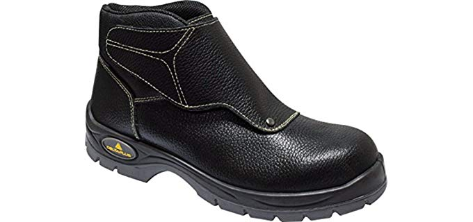 Delta Plus Men's Panoply Cobra Welders - Black Leather Welding Work Boots