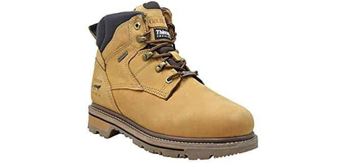 King Rocks Men's Insulated Work Boots - Warm Waterproof Plumber Work Boots