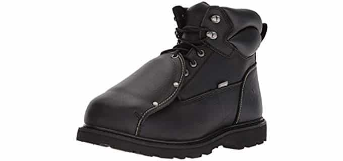 Iron Age Men's Ground Breaker Welders - Premium Leather Welding Work Boots
