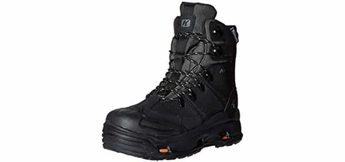 Korkers Men's SnowJack Pro Boots - Snow Weather Puncture Proof Safety Boots