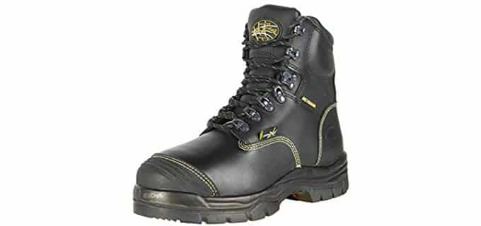 Oliver Men's 55 Series Work Boot - Rounded Leather Steel Toe Work Boots