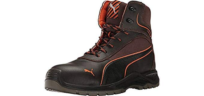 PUMA Men's Atomic Safety Boot - Stylish Knee Guard Work Boots