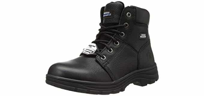 SKECHERS Men's Workshire Condor - Memory Foam High Arch Work Boots
