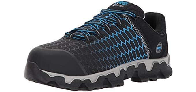 Timberland PRO Men's Powertrain Work Shoes - Stylish Sporty Construction Work Shoes