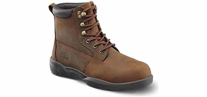Dr. Comfort Men's Protector - Steel Toe Work Boots for Arthritis