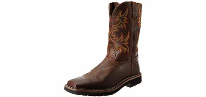 Justin Original Men's Stampede - Full American Western Styled Work Boot