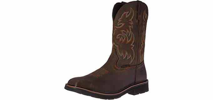 Wolverine Men's Rancher - Western Style Square Toe Work Boot