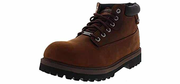 Skechers Men's USA Verdict - Rugged Work Boots for Heel Pain
